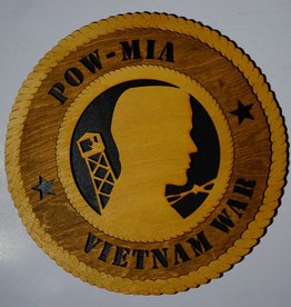 POW/MIA Vietnam LG Plaque Locally Made