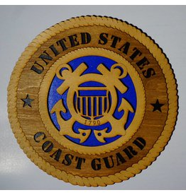United States Coast Guard SM Plaque Locally Made