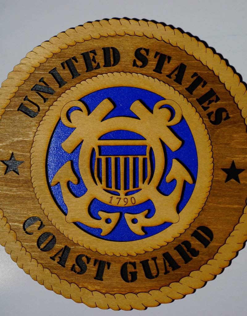 United States Coast Guard SM Plaque Locally Made