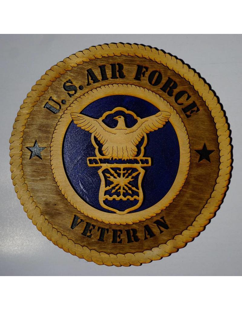 Air Force Veteran Wooden Plaque