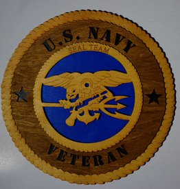 Navy Seal Team Veteran LG Plaque Locally Made