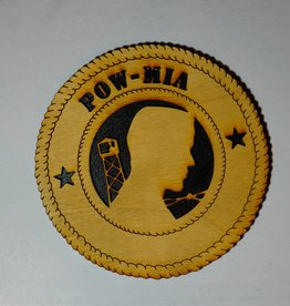 Locally Made POW/MIA (2 Stars) SM Plaque