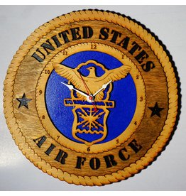 Air Force Wooden Clock
