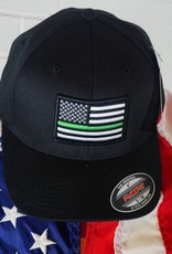 Thin Blue Line USA Thin Green Line Flexfit American Flag Hat
