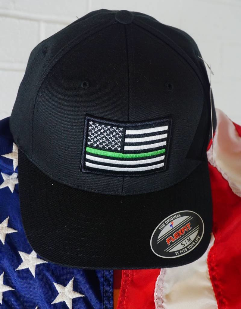 Thin Green Line Flexfit American Flag Hat