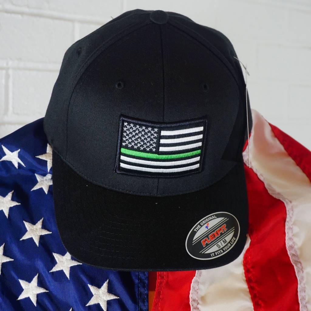 Thin Green Line Flexfit American Flag Hat - Stars   Stripes 161008be396