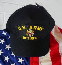 Army Retired Emblematic Patch Baseball Cap (Blk)
