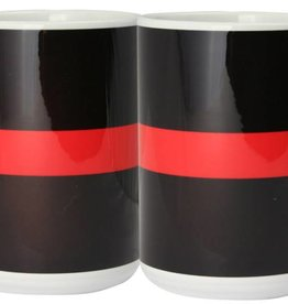 Thin Red Line Ceramic Mug