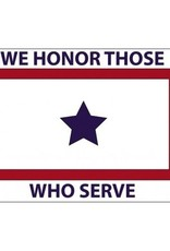 White Service Flag (We Honor Those Who Serve) 3x5' Nylon Flag