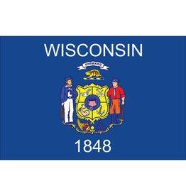 Wisconsin Nylon Flag