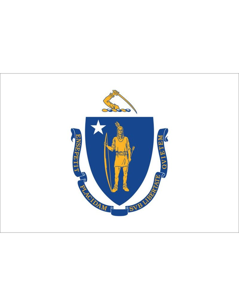 Massachusetts Nylon Flag