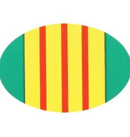 Vietnam Veteran Ribbon Oval Decal