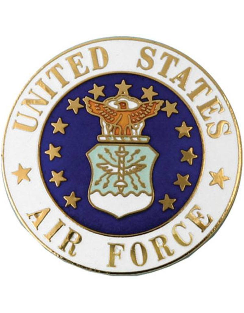 United States Air Force with Air Force Crest Large Lapel Pin