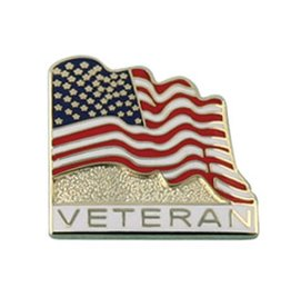 American Flag with Veteran Lapel Pin
