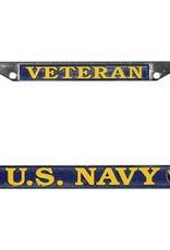 Veteran U.S. Navy  Chrome Auto License Plate Frame