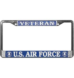 Veteran U.S. Air Force Chrome Auto License Plate Frame