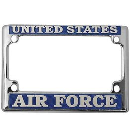 Air Force Chrome Motorcycle License Plate