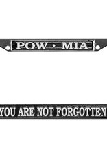 POW/MIA Chrome Auto License Plate Frame