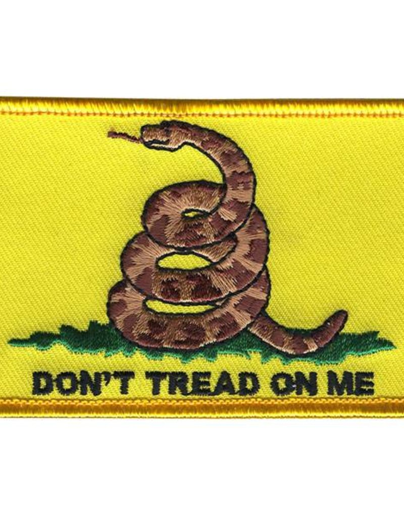 """Don't Tread with Coiled Snake 2""""x3.375"""" Patch"""