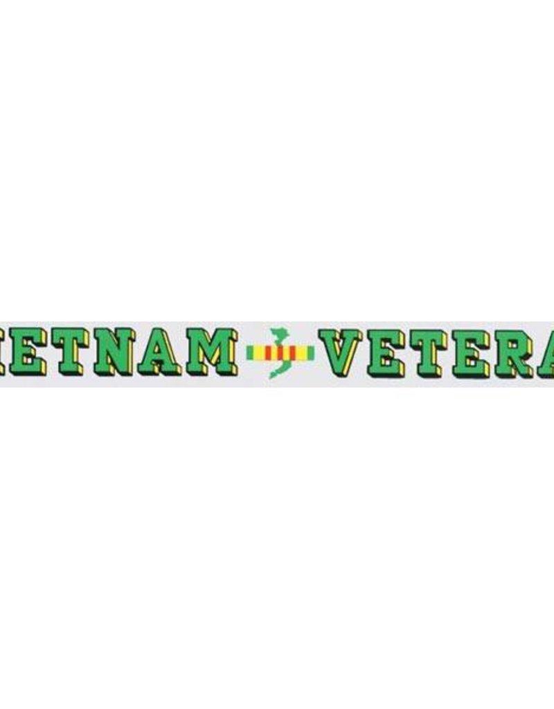 Vietnam Veteran Window Strip Decal