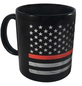 Thin Red Line Distressed American Flag Mug