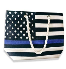 Thin Blue Line Canvas Tote Bag