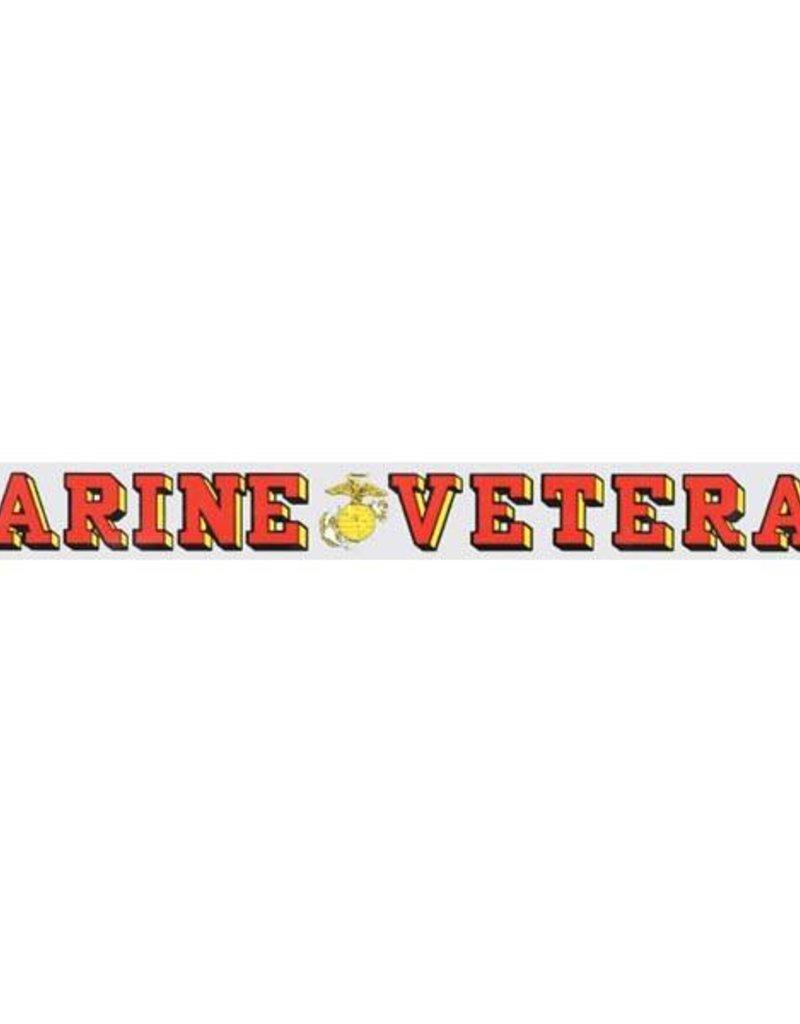 Marine Veteran Window Strip Decal