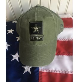 Army w/ One Star Logo Baseball Cap in OD Green