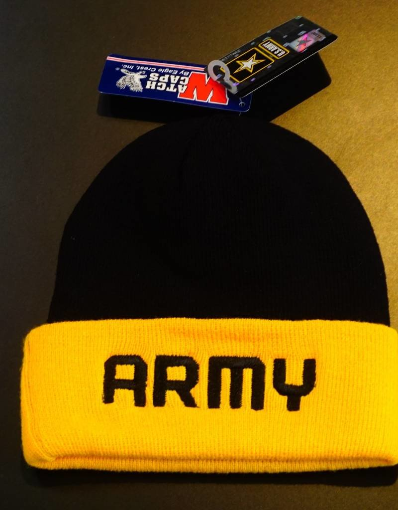 Army in Black and Yellow Watch Cap