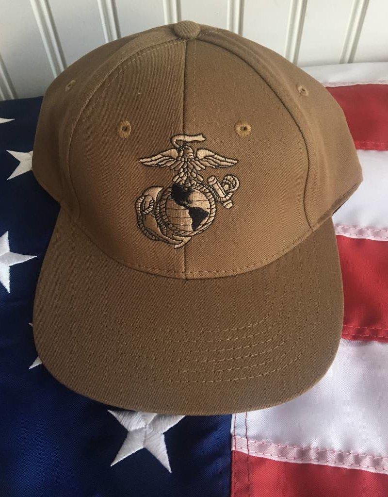 Marine Eagle, Globe & Anchor Baseball Cap in Coyote Brown