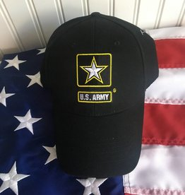 Army w/ Star Logo Baseball Cap in Black