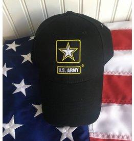dffa6fa5877 Army w  Star Logo Baseball Cap in Black