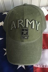 Army w/ Star Logo Baseball Cap in OD Green