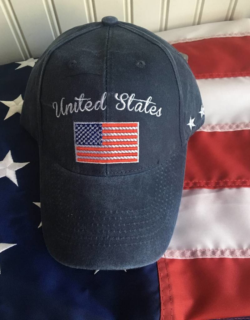 United States w/ Flag Baseball Cap