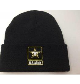 Army Star Logo Black Watch Cap