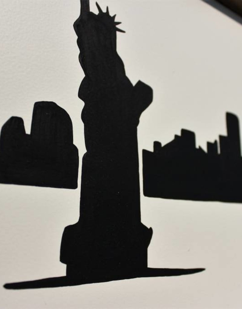 9/11 New York City Skyline Wooden Sign