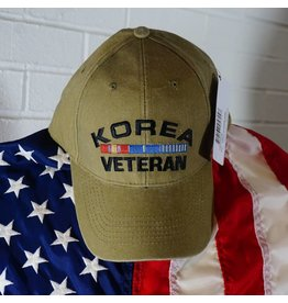 Korea Veteran w/ Embroidered Ribbons Baseball Cap