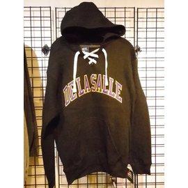Sweatshirt - Classic Hooded Hockey Lace-Up