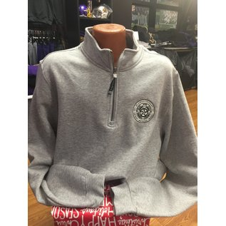 1/4 Zip De La Salle Crest Heavyweight Sweatshirt