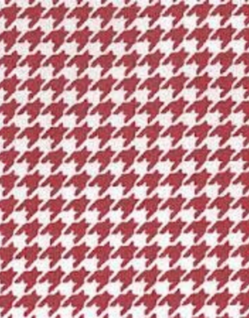 Fabric Finders FF RED HOUNDSTOOTH TWILL