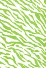Fabric Finders 100% COTTON LIME ZEBRA