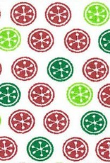 Fabric Finders FF 1697 RED / GREEN CHRISTMAS BUTTONS