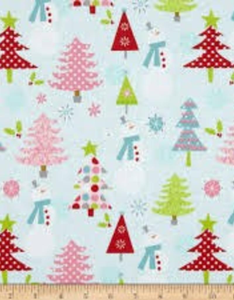 RILEY BLAKE RB c890-03 BLUE SNOWMAN CHRISTMAS BASICS