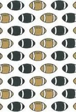 Fabric Finders FF FOOTBALL BLACK GOLD