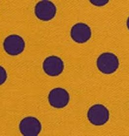 Fabric Finders FF PURPLE GOLD DOT TWILL