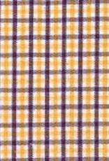 Fabric Finders FF MINI TRICHECK PURPLE GOLD