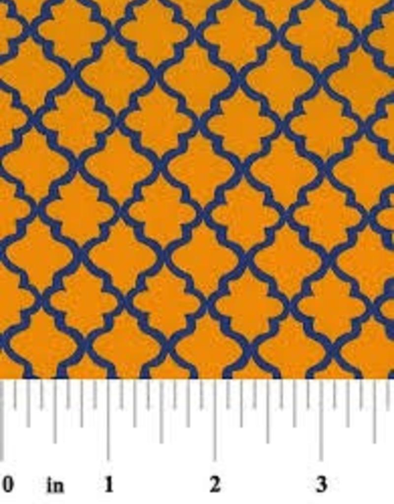 Fabric Finders FF GOLD PURPLE QUATREFOIL