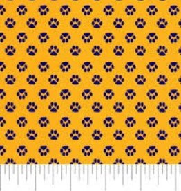 Fabric Finders FF Gold with Purple Tiger Paw 1867