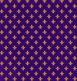 Fabric Finders FF MINI FLEUR DE LIS PURPLE/GOLD