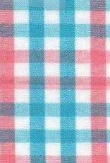 Fabric Finders 100% COTTON TRI-CHECK BLUE/CORAL
